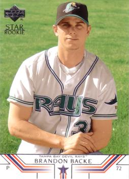 2002 Upper Deck Brandon Backe Rookie Card