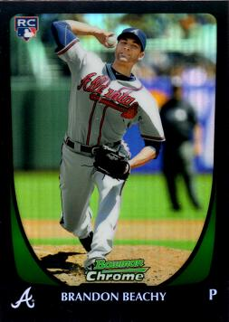 Brandon Beachy Bowman Chrome Refractor Rookie Card
