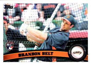 2011 Topps Brandon Belt Rookie Card
