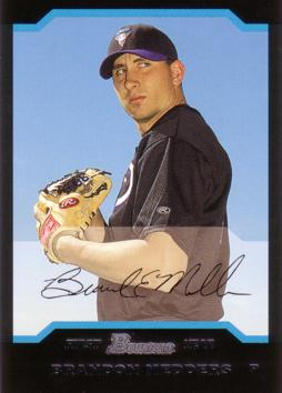 2004 Bowman Brandon Medders Rookie Card