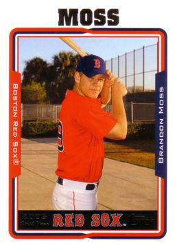 2005 Topps Brandon Moss Rookie Card
