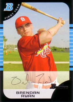 2005 Bowman Brendan Ryan Rookie Card