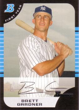 2005 Bowman Draft Picks Brett Gardner Rookie Card