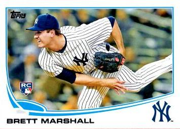 2013 Topps Update Brett Marshall Rookie Card