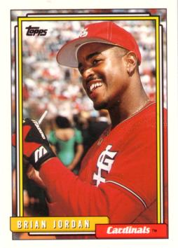 1992 Topps Traded Brian Jordan Rookie Card