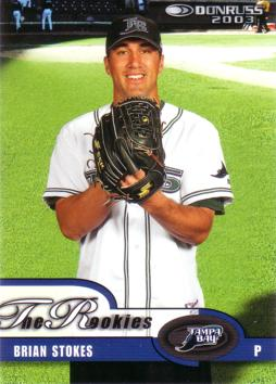 2003 Donruss the Rookies Brian Stokes Rookie Card