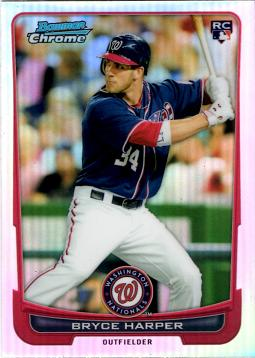Bryce Harper Bowman Chrome Refractor Rookie Card