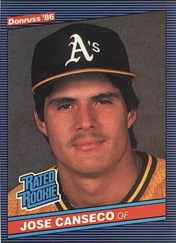 1986 Donruss Jose Canseco rookie card