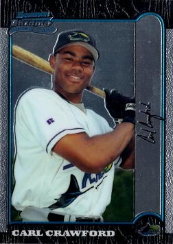 Carl Crawford Bowman Chrome Rookie Card