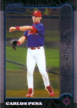 Carlos Pena Bowman Chrome Rookie Card