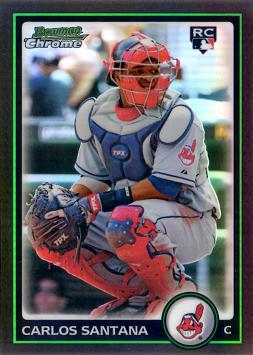 2010 Bowman Chrome Refractor Carlos Santana Rookie Card