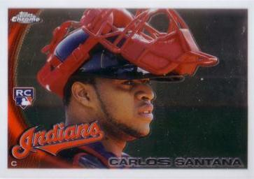 2010 Topps Chrome Carlos Santana Rookie Card
