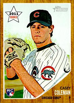 2011 Topps Heritage Casey Coleman Rookie Card