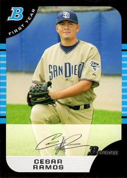 2005 Bowman Draft Picks Cesar Ramos Rookie Card