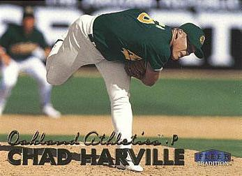 1999 Fleer Update Chad Harville Rookie Card
