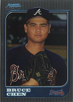 1997 Bowman Chrome Bruce Chen Rookie Card