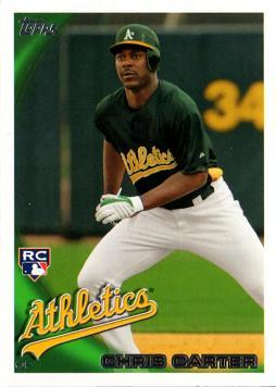 Chris Carter Athletics Rookie Card