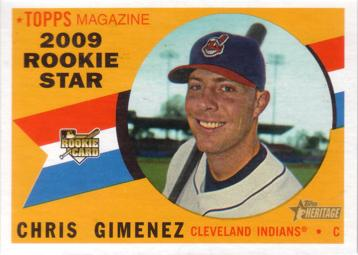 2009 Topps Heritage Chris Gimenez Rookie Card