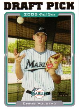 2005 Topps Update Chris Volstad Rookie Card