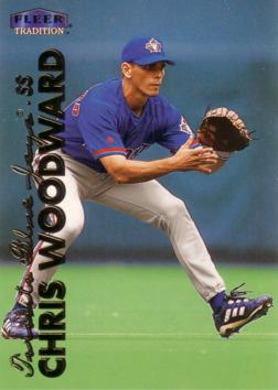 1999 Fleer Update Chris Woodward Rookie Card