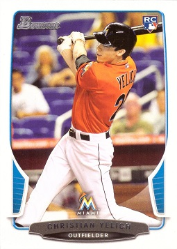 Christian Yelich Bowman Draft Rookie Card