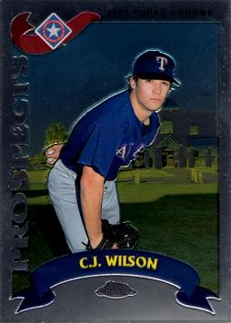2002 Topps Chrome Traded C.J. Wilson Rookie Card
