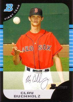 2005 Bowman Draft Picks Clay Buchholz Rookie Card