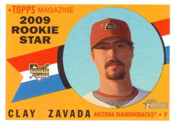 2009 Topps Heritage Clay Zavada Rookie Card