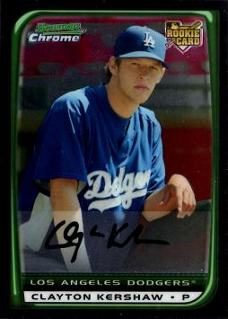 Clayton Kershaw Bowman Chrome Rookie Card