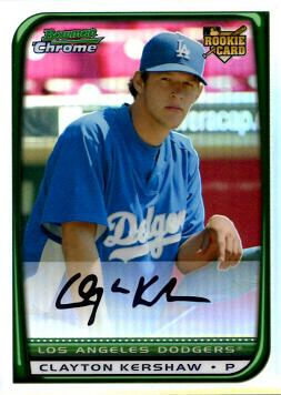 Clayton Kershaw Bowman Chrome Refractor Rookie Card
