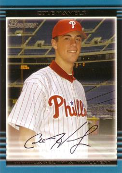 2002 Bowman Draft Picks Cole Hamels Rookie Card