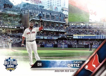 David Ortiz Bids Farewell at Final All-Star Game Baseball Card