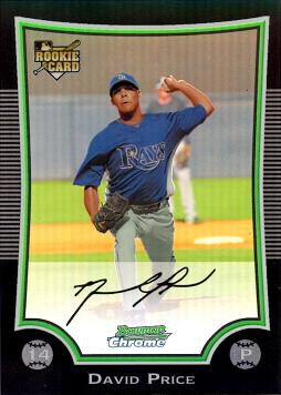 David Price Bowman Chrome Refractor Rookie Card