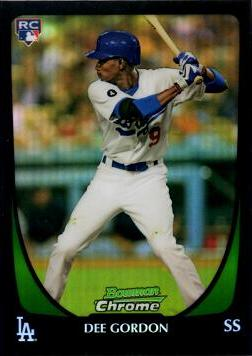 Dee Gordon Bowman Chrome Refractor Rookie Card