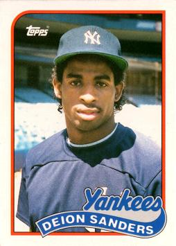 Deion Sanders Baseball Rookie Card