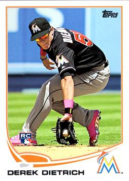 2013 Topps Update Baseball Derek Dietrich Rookie Card