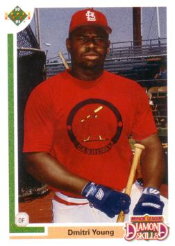 1991 Upper Deck Dmitri Young Rookie Card