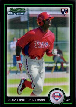 2010 Bowman Chrome Refractor Domonic Brown Rookie Card