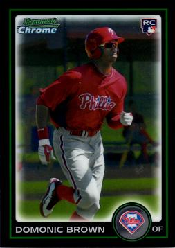 2010 Bowman Chrome Draft Picks Domonic Brown Rookie Card