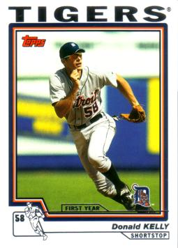 2004 Topps Traded Don Kelly Rookie Card