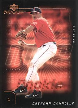 2002 Upper Deck MVP Brendan Donnelly Rookie Card
