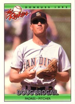 1992 Donruss the Rookies Doug Brocail Rookie Card