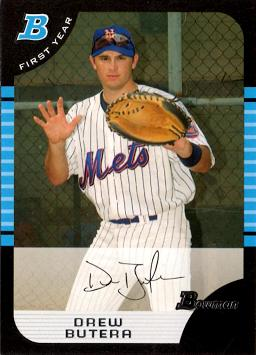 2005 Bowman Draft Picks Drew Butera Rookie Card