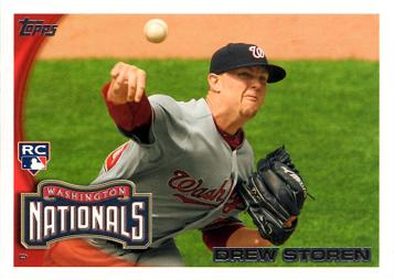 2010 Topps Update Drew Storen Rookie Card