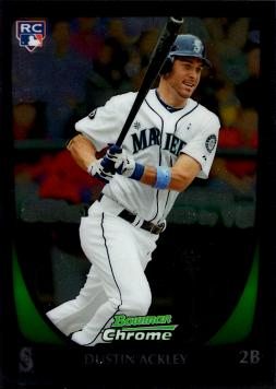 Dustin Ackley Bowman Chrome Rookie Card