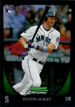 Dustin Ackley Bowman Chrome Refractor Rookie Card