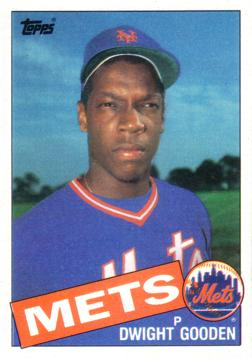 1985 Topps Dwight Gooden Rookie Card