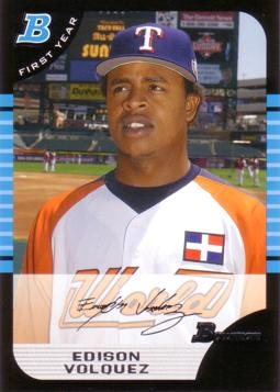 2005 Bowman Draft Picks Edison Volquez Rookie Card