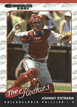 2001 Donruss Rookies Johnny Estrada Rookie Card