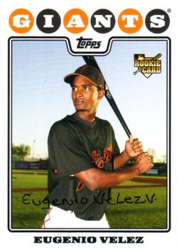 2008 Topps Eugenio Velez Rookie Card